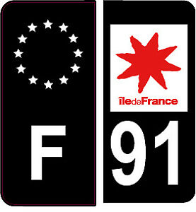 4-Autocollants-2-paires-Stickers-style-Auto-Plaque-Black-Edition-noir-F-91