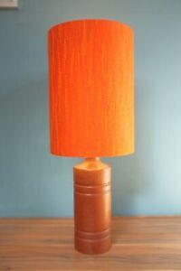 Original 70s Fabric Lampshade - Retro, 20cm Drum, Lined