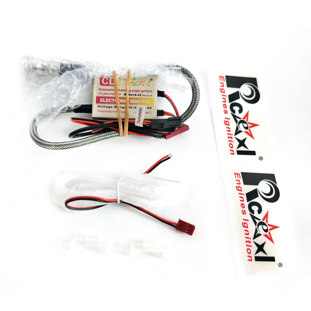 Rcexl Single Ignition for NGK CM6 10MM Straight With Hall Sensor, 6.0V-14.4V
