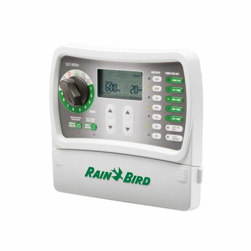 Irrigation Controller 7 in. 9-Zones Battery Back-Up Digital Display Electronic