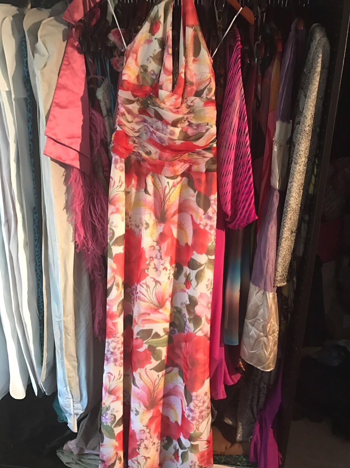New Escada Floral Silk Dress 36  2300 2300 2300 efdc8c