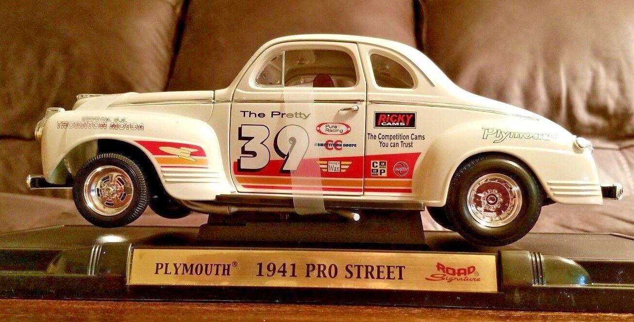 Road Signature 1941 Plymouth Pro Street Diecast Car 1 18 Fairfield Mint