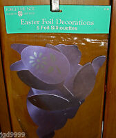 American Greeting Forget Me Not Pkg Of 5 Easter Foil Decorations Bunny Egg Tulip