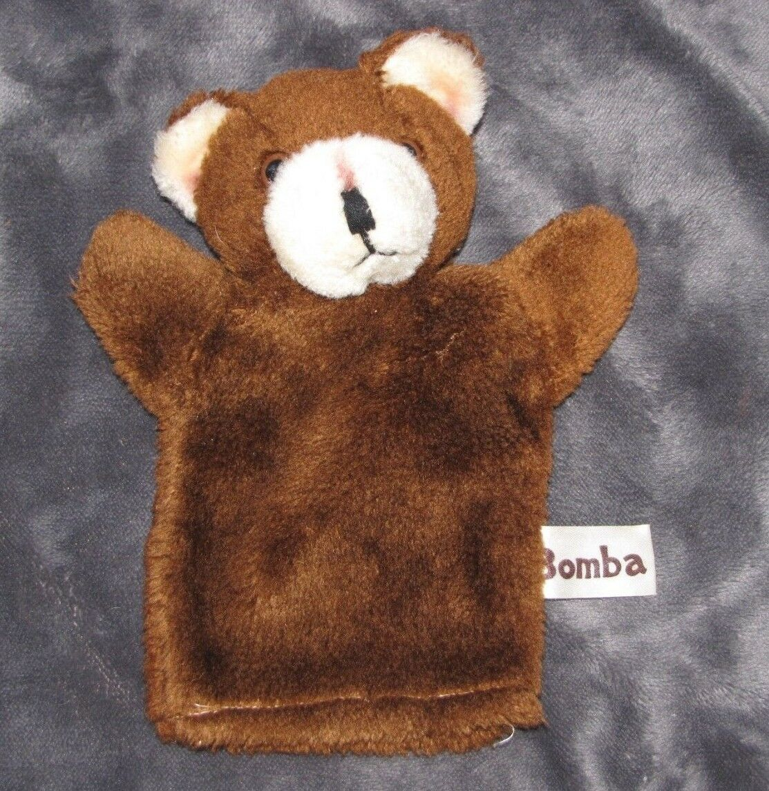 VINTAGE 1977 RUSS BERRIE & AND CO STUFFED PLUSH braun TEDDY BEAR PUPPET BOMBA