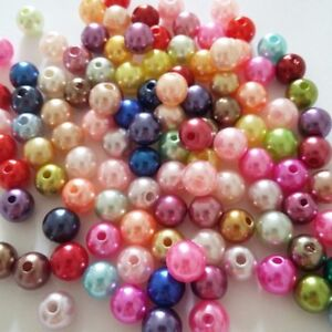 Pcs Art Hobby DIY Jewellery Making Crafts Acrylic Round Beads 4mm Rainbow 600