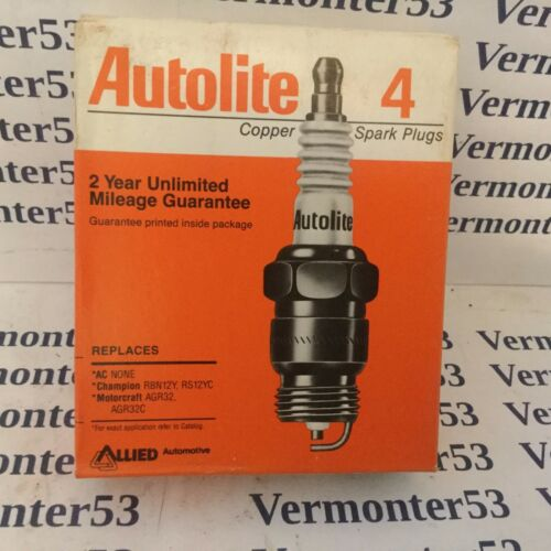 One Box of Four Autolite # 104 Copper Core Resister Spark Plugs