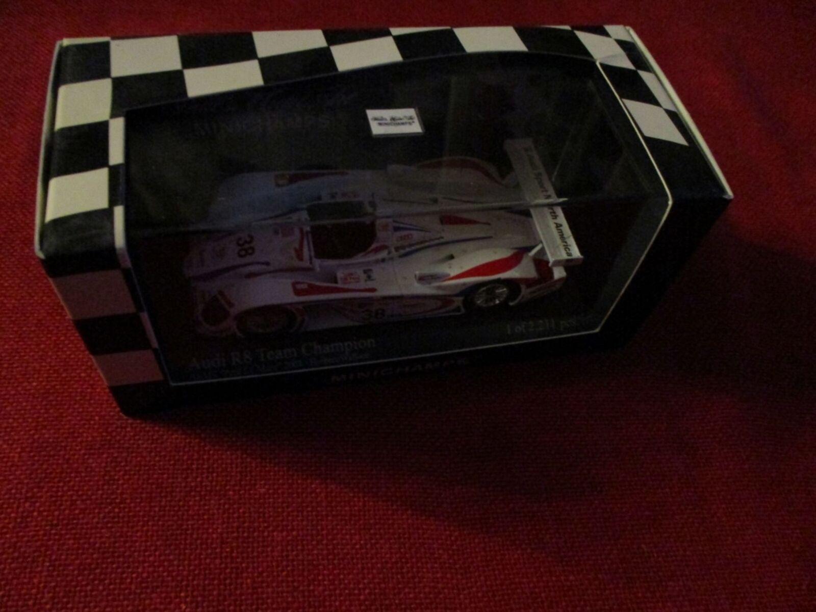 MINICHAMPS ® 400 010938 1 43 Audi r8 Petit Le Mans Road Atlanta 2001 Nouveau neuf dans sa boîte
