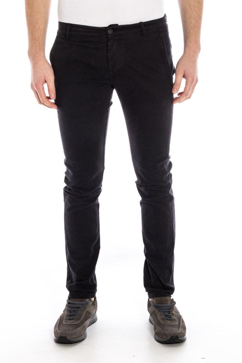 Pantaloni Daniele Alessandrini Jeans Trouser SLIM FIT men black PJ5159L1003335 1
