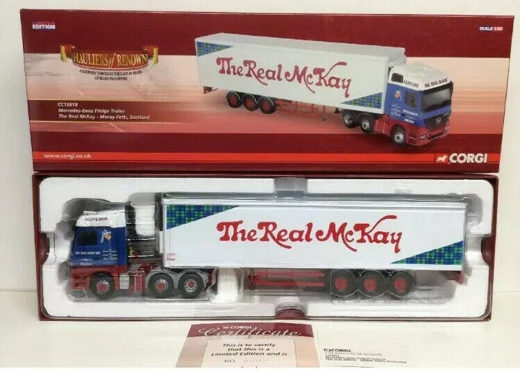 Corgi Modern Trucks Heavy Haulage The Real McKay Mercedes & Fridge Trailer 1.50