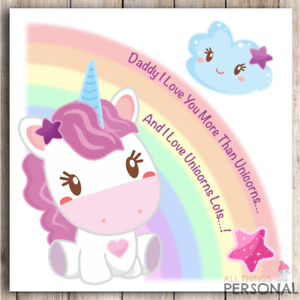 Image Is Loading Unicorn Father 039 S Day Card Unicorns Birthday