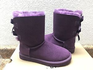 f637b249258 Details about UGG BAILEY BOW EXOTIC SCALE ANEMONE PURPLE BOOT US 5 / EU 36  / UK 3.5