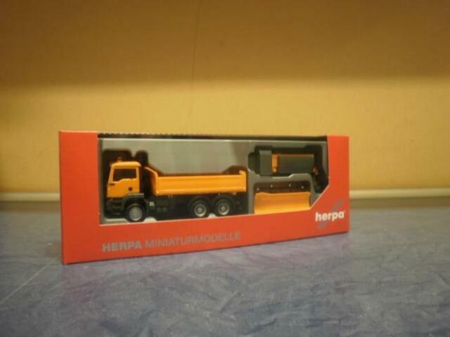 Herpa LKWt MAN TG-S M Winterdienst kommunal orange 307772