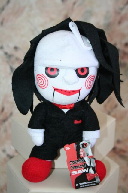 """CINEMA OF FEAR BILLY SAW PUPPET PLUSH TOY DOLL COLLECTIBLE 8"""" NEW MEZCO"""