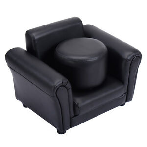 Image Is Loading Black Kids Children Single Seat Sofa Lounge Chair