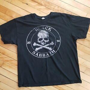 Black-Sabbath-Skull-And-Crossbones-Shirt-2014-Canada-New-York-Los-Angelas-XL