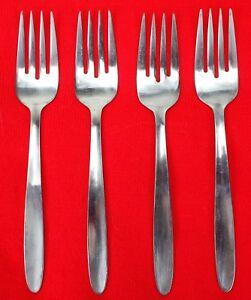 """4X Salad Dessert Forks Englishtown ENS2 Stainless Glossy Flatware 6 1/2"""" Fork"""