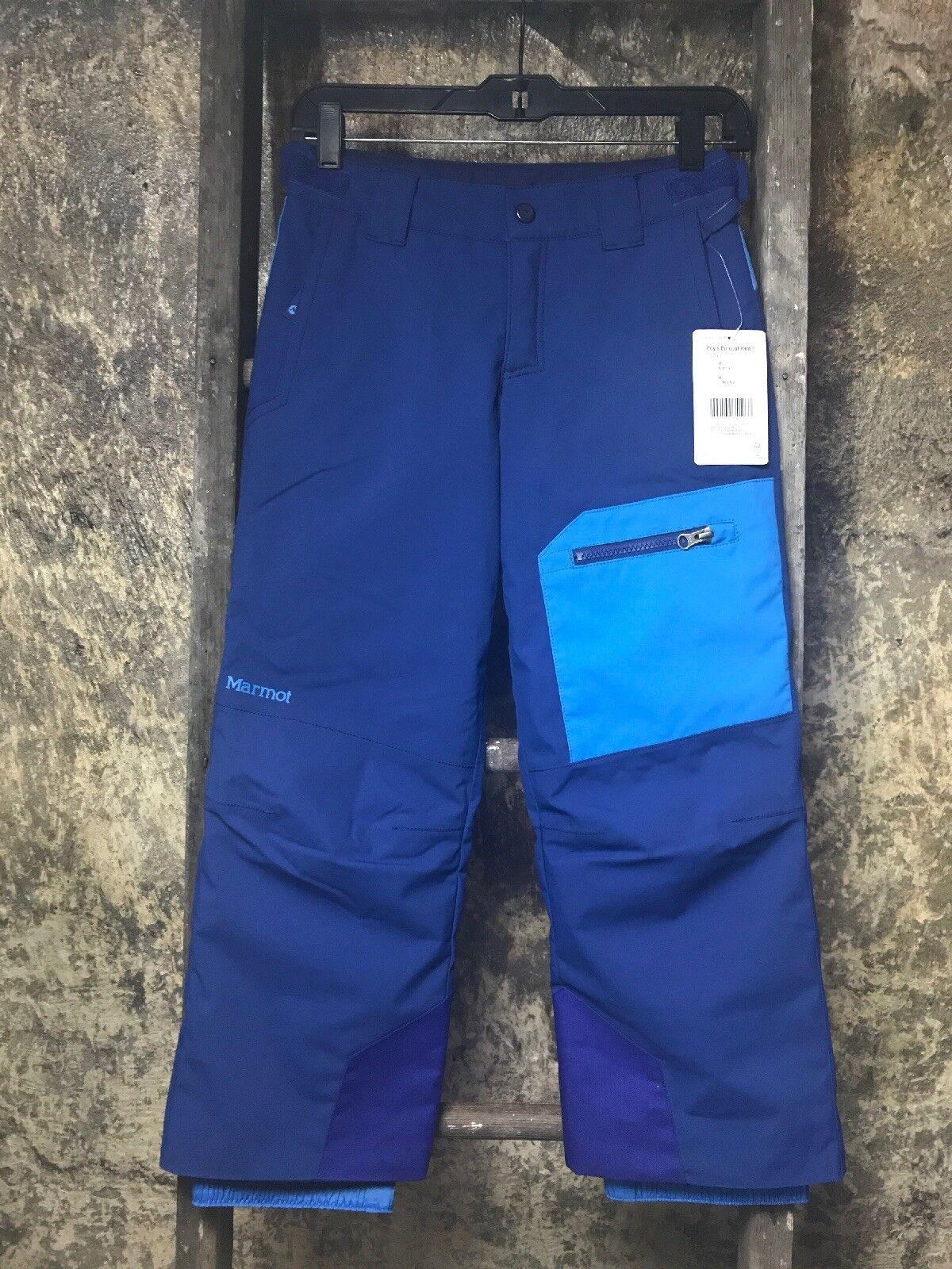 Marmot Burnout Boy's Snow Pants 74540 bluee Size Medium New with Tags