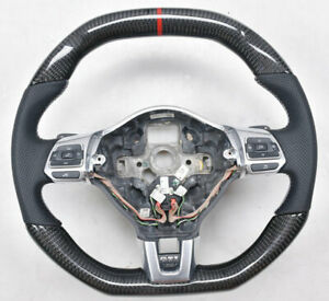 Details About Customized Carbon Fiber Car Steering Wheel For Vw Golf 6 Mk6 Gti Scirocco R