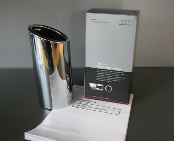 Doelstelling Genuine Audi Chrome Plated Stainless Steel Exhaust Tip Trim Single- New A4 & A5