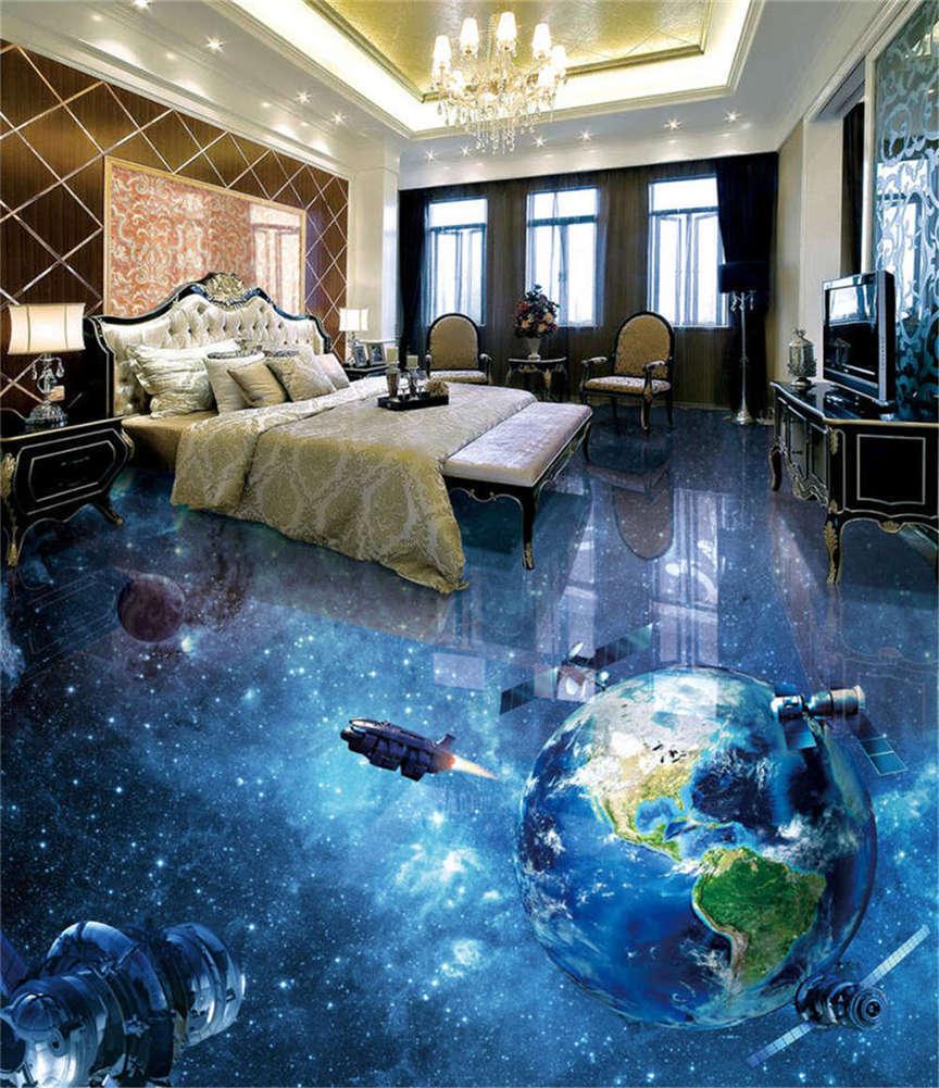 Universe Fragment 3D Floor Mural Photo Flooring Wallpaper Home Print Decoration