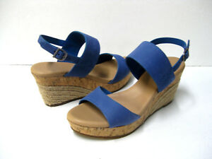 17a03ebb0bf Details about UGG ELENA WOMEN WEDGE SANDALS AZUL US 9 /UK 7.5 /EU 40