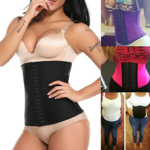 329de3f9a78 Image is loading Sports-Latex-Rubber-Waist-Trainer-Cincher-Corset-Body-