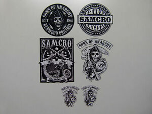 6x Motorrad Aufkleber SOA Sons of Anarchy Samcro Club Biker Outlaw 1% V2 MC 602