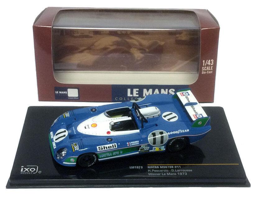 IXO lm1973 MATRA ms670b  11 Le Mans winner 1973-Pescarolo/Larrousse 1/43 SCALA