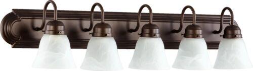 "Quorum International 5094-5 Bronze 5-Light 36/""W Bathroom Vanity Light"