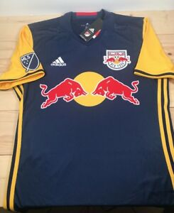 superior quality 5a456 f85ad Details about Adidas New York Red Bulls MLS 2016 Away Soccer Jersey Men's  Medium NWT