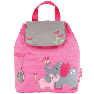 Image is loading Stephen-Joseph-Girls-Quilted-Elephant-Backpack-Cute-Toddler - ff256cd727252