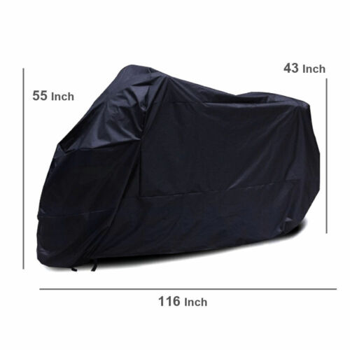 XXXL Motorcycle Bike Cover Outdoor Waterproof Anti-Rain Snow Dust UV Protector