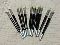 Plaid Stencil Paint Brush Set/lot Of 12 Brushes Each Is 1/2