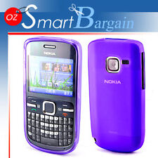 New Purple Soft Gel TPU Cover Case For Nokia C3-00 C3