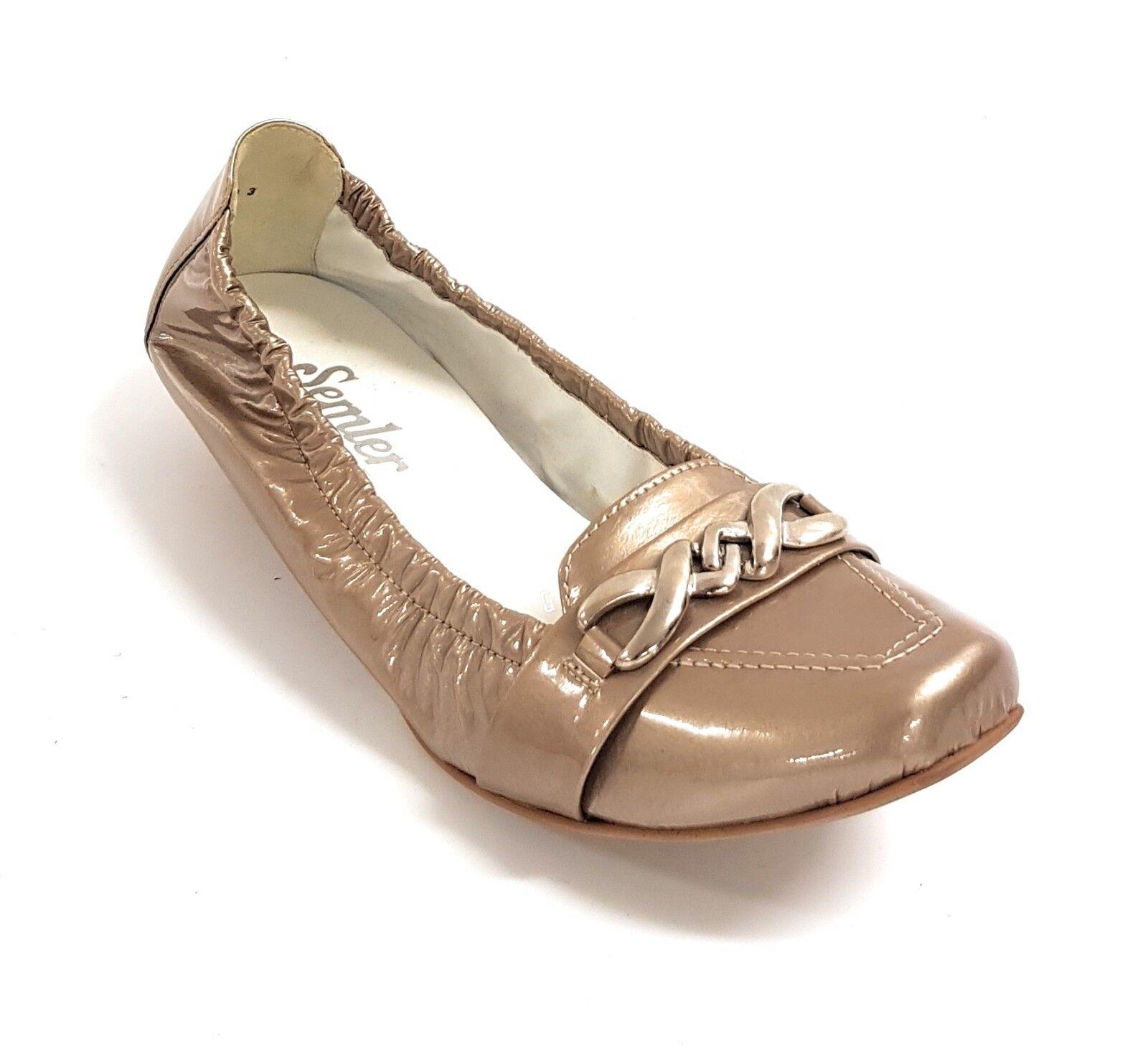 Semler Select Isa Damen Schuhe Slipper Ballerinas Mokassin Profilsohle LM-Absatz