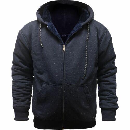 Mens Grindle Sherpa Fleece Fur Lined Borg Hoodie Winter Sherpa Hooded Jacket