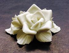 4 Cerámica Blanco Rosas Hecho A Mano Para Decorar Cajas de regalo y otros proyectos Craft