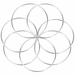 6-x-5-034-Strong-Metal-Dreamcatcher-Macrame-Craft-Hoop-Ring-amp-Free-Cotton-Cord