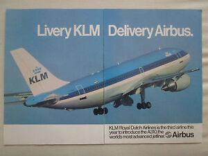 6-1983-Publicidad-Airbus-A310-Airliner-Klm-Royal-Dutch-Original-Ad