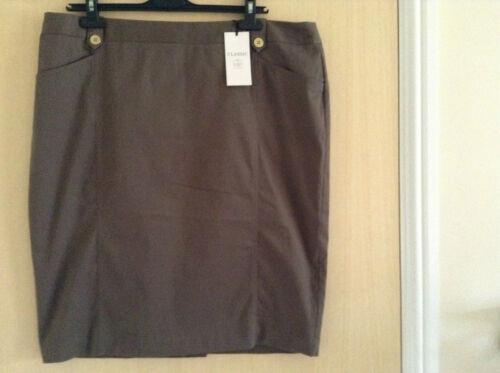 M/&S Ladies/' Classic Cotton Rich Chino Pencil Skirt UK 18-20 EU 46-48 NEW