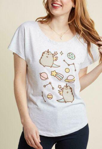 Pusheen The Cat PUSHEENICORN CONSTELLATION Girls Dolman T-Shirt NWT Licensed