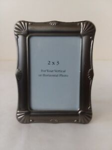 Small Vertical Or Horizontal Silver Tone Picture Wallet Size Frame 2 X 3 Ebay
