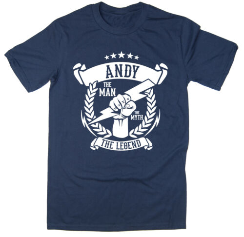 The Legend T-Shirt Andy The Myth Christmas gift idea 6 colours The Man