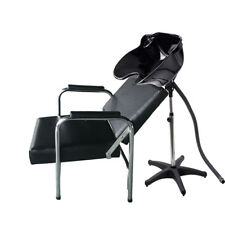 Beauty Hair Salon Backwash Barber Chair Spa Sh&oo Bowls Sink Equipment Station  sc 1 st  eBay & Portable Shampoo Bowl Basin Hair Beauty Salon Chair Adjustable Sink ...