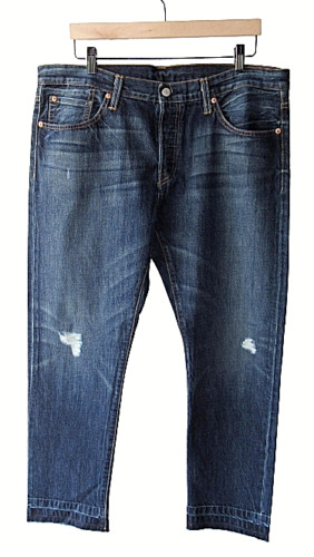 Levis 501 Button Fly Customized & Tapered 38 Distr