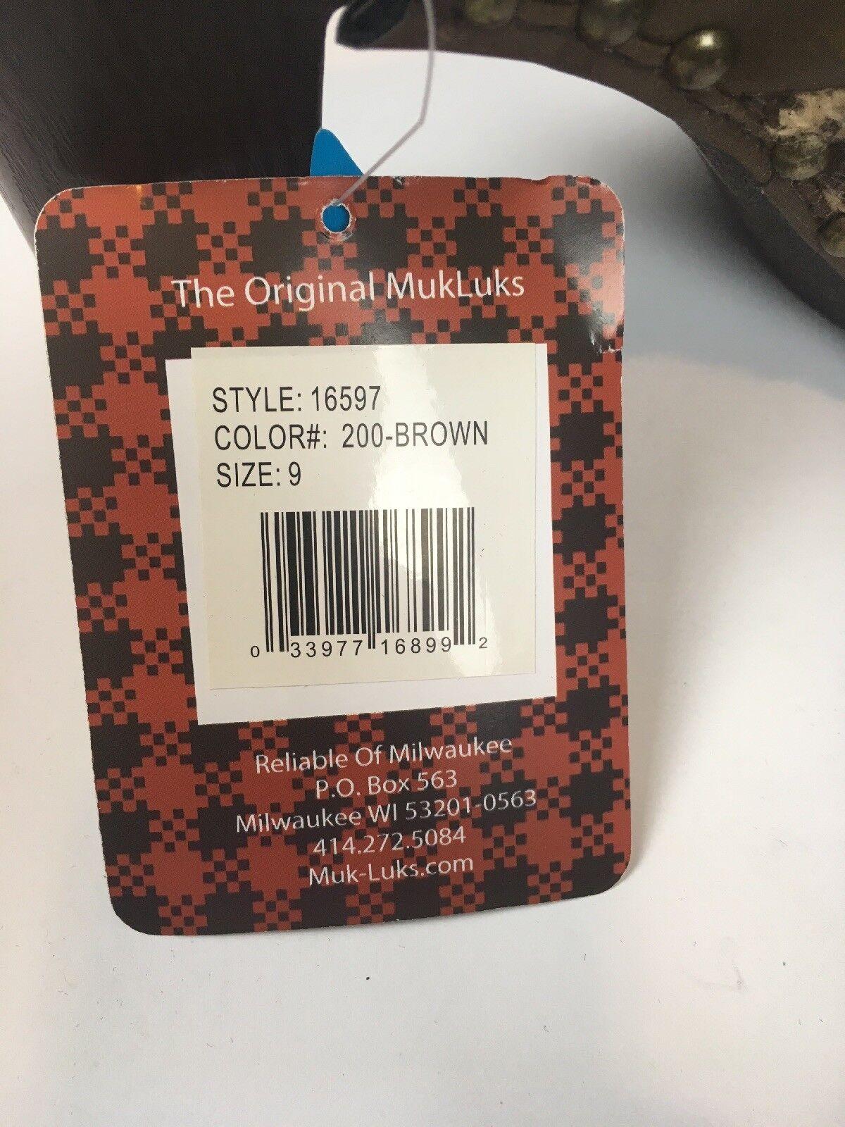Muk Muk Muk Luks Kameryn Platform Heel Mules Faux Fur Lined Oatmeal braun damen Größe 9 71263c