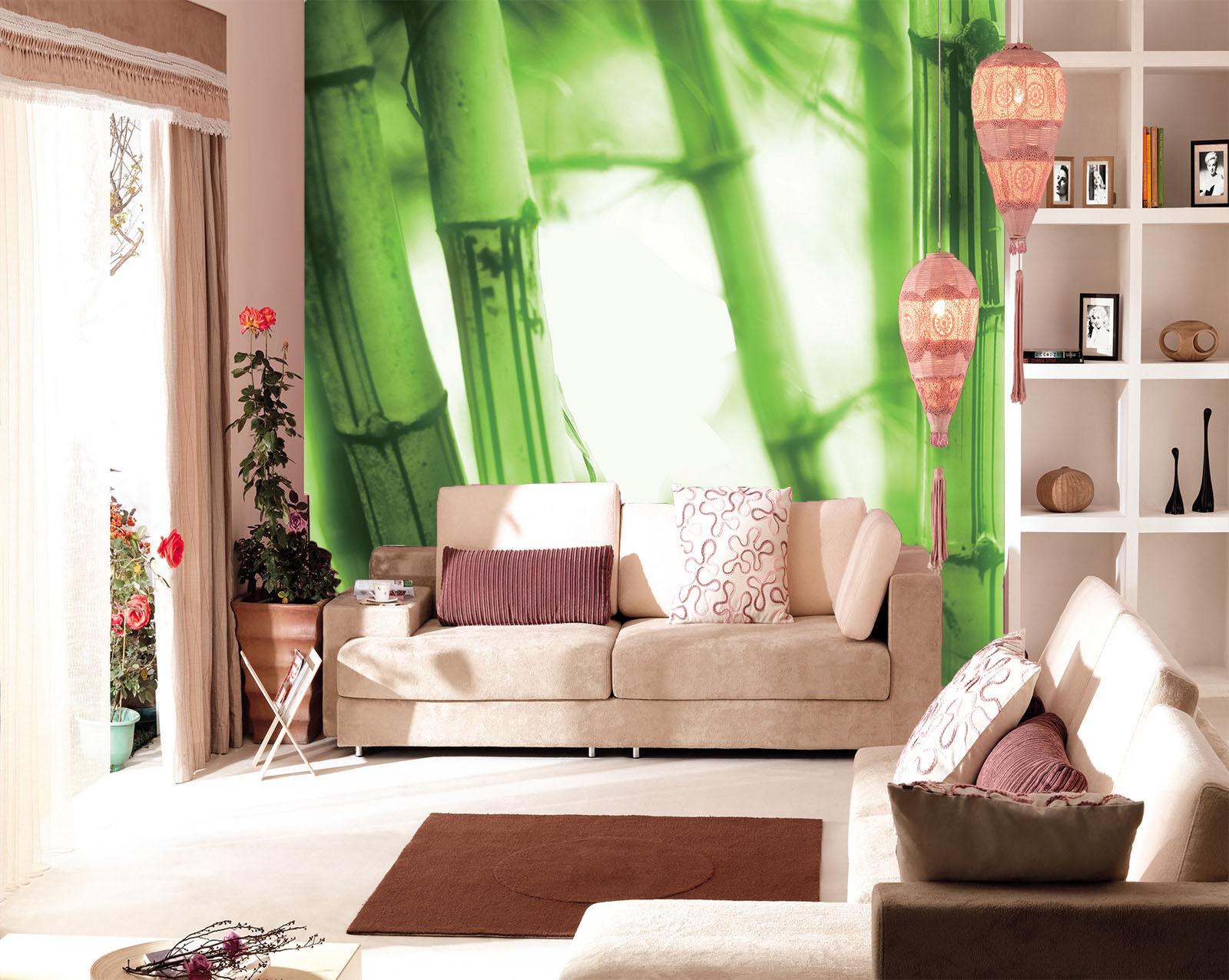 3D Green Bamboos 861 Wall Paper Murals Wall Print Wall Wallpaper Mural AU Kyra