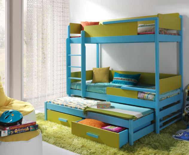 Bunk Bed Quatro 3 Triple Kids Sleeper Children Bedroom Furniture