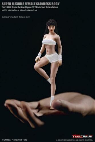 TBLeague 1//12 Scale Phicen T01B Medium Chest Suntan Flexible Body Female Figures