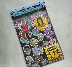 Image is loading Bulk-Lot-20-Sheets-Of-Assorted-Zombie-Spooky-
